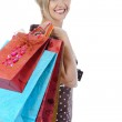 Pretty women with shopping bags — Stock Photo #3633454