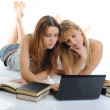 Sisters are preparing for the exam — Stock Photo #3864086