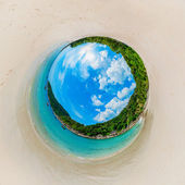 Beautiful sunny beach in the form of the planet — Stok fotoğraf
