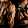 Постер, плакат: Bodybuilding Man and woman
