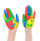 Hand Painted Child. — Stock Photo