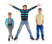 Group of children posing — Stock Photo
