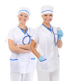 Smiling medical doctor woman — Stock Photo