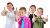 Group of children posing — Stock Photo