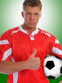 Reproductor de futbolista — Foto de Stock