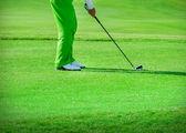 Golf club. Man playing golf — Stock Photo