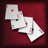 Playing cards poker casino — Zdjęcie stockowe