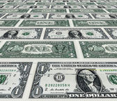 Dollars pile as background — Stock Photo