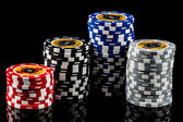 Poker-Chips — Stockfoto