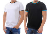 T-shirt on a young man — Stok fotoğraf