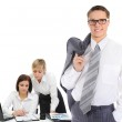 Happy smiling business team — Stock Photo #48398215