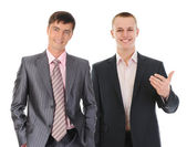 幸福微笑的业务团队 — 图库照片