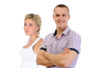Młody mężczyzna i kobieta — Zdjęcie stockowe