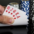 Poker chips Playing cards — Stock Photo #49031919