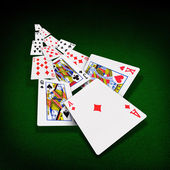 Playing cards poker casino — Stock Photo