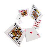 Playing cards poker casino — Stok fotoğraf