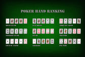 Poker hand rankings symbol set — Stok fotoğraf