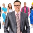 Happy smiling business team — Stock Photo #49949389