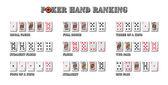 Poker hand rankings symboolset — Stockfoto