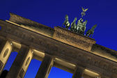Berlin - Brandenburger Tor - Quadriga at blue hour — Stock Photo