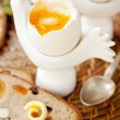 Stock Photo: Soft-boiled egg
