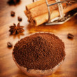 Stock Photo: Ground coffee and spices