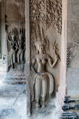 Apsaras Carving in Angkor Temple — Stock Photo