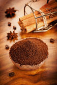 Ground coffee and spices — Stock Photo