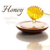 Honey isolated on white background — Stock Photo
