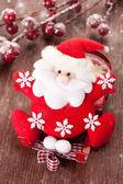 Santa Claus on Christmas sleigh — Stock Photo