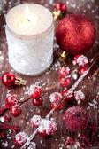 Christmas candles — Zdjęcie stockowe