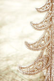 Golden Christmas tree close-up — Stock Photo