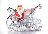 Statue of Santa Claus in a sleigh — Stock Photo