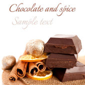 Chocolate and spice. — Stock Photo