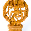 Dancing Shiva. Wooden statue — Stock Photo