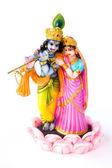 Hindu God Krishna and Hindu Goddesses Radha — Stock Photo