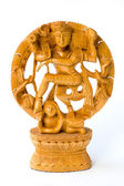 Shiva dansant. statue en bois — Photo