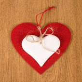 Red heart and white heart — Stock Photo