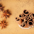 Cinnamon sticks and star anise — Stock Photo #24901389