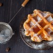 Sweet waffles, honey and espresso — Stock Photo #24901401