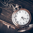Vintage pocket watch on a chain — Stock Photo #24902595