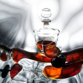 Bottle with cognac — Stock Photo