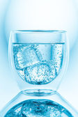 Water with ice cubes — Stock Photo