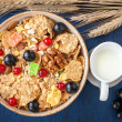 Stock Photo: Muesli with currants