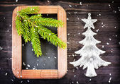 Vintage Christmas decorations — Stock Photo