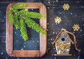Vintage Christmas decorations — Stock Photo