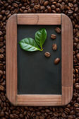 Coffee on the chalkboard — Stock Photo