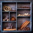 Spices and coffee set  — Stock Photo