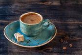 Сup of espresso coffee with sugar — Stock fotografie