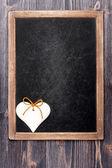 心和粉笔板 — 图库照片